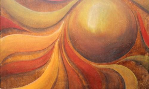 Abstract schilderij lijnen vormen kleuren door Hans Fontijn (Sylgo) DOEL goal