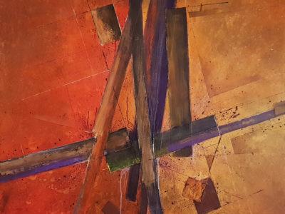 Abstract schilderij lijnen vormen kleuren door Hans Fontijn (Sylgo) duidelijk toch?