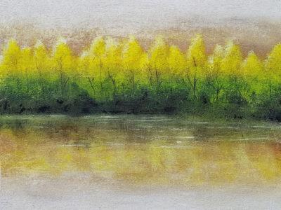 Abstract schilderij bomen bos meer... door Hans Fontijn (Sylgo) meer bos