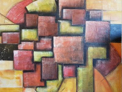 Abstract schilderij door Hans Fontijn (Sylgo) mijn leven