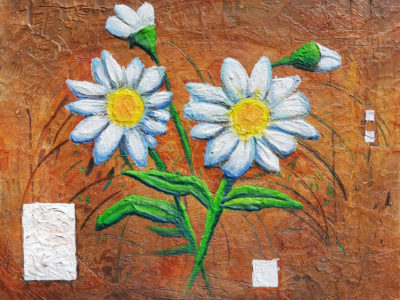 Abstract schilderij bloem flower 3d daisy door Hans Fontijn (Sylgo)